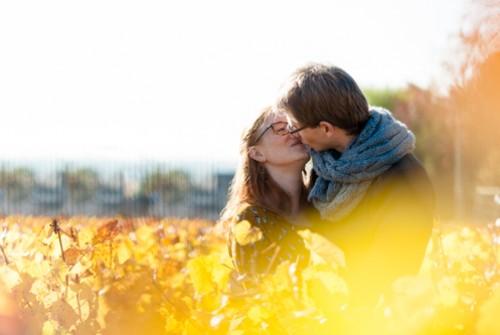 Des amoureux en automne