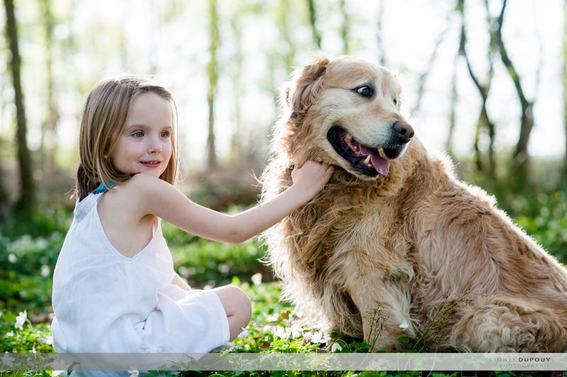 Mina et son chien Bounty